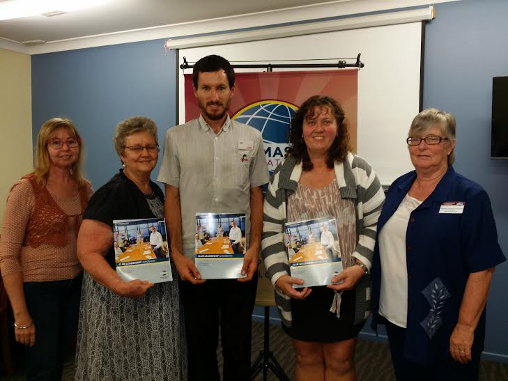 From left: Immediate past president Maureen, VPE Ellen, Treasurer Neil, Secretary Leanne, Area Governer Roseann